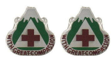 Army Crest: Dental Fort Lewis - With Great Compassion- pair