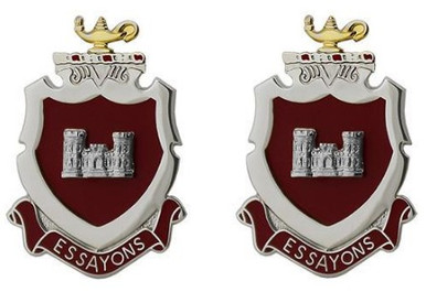 Army Crest: Engineer School – Essayons- pair