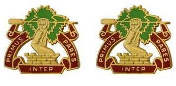 Army Crest: First Air Defense Artillery - Primus Inter Pares- pair