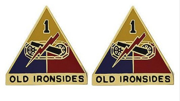 Army Crest: First Armored Division - Old Ironsides- pair