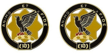 Army Crest: First Cavalry Regiment - Animo Et Fide- pair