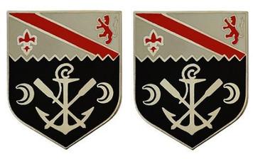 Army Crest: First Engineer Battalion- pair