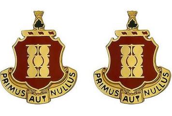 Army Crest: First Field Artillery - Primus Aut Nullus- pair