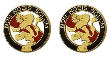 Army Crest: First Maintenance Command - Non Nobis Solum- pair