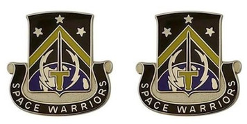 Army Crest: First Space Battalion - Space Warriors- pair