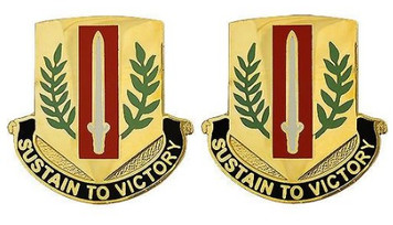 Army Crest: First Sustainment Brigade - Sustain to Victory- pair