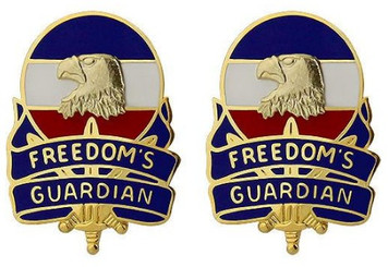 Army Crest: Forces Command: FORSCOM - Freedoms Guardian- pair