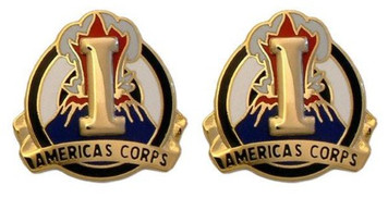 Army Crest: I Corps - Americas Corps- pair