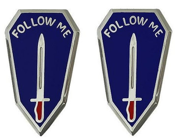 Army Crest: Infantry Center and Infantry School - Follow Me- pair