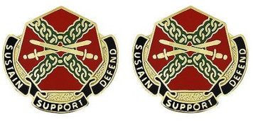 Army Crest: Installation Management Command - Sustain Support Defend- pair