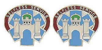 Army Crest: Landstuhl Regional Medical Center - Selfless Service- pair