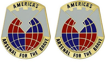 Army Crest: Material Command - Americas Arsenal for Brave- pair