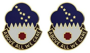 Army Crest: MEDDAC Alaska - Above All We Care- pair