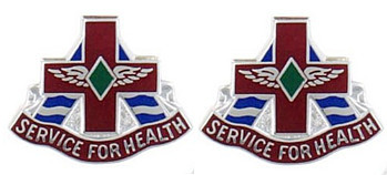 Army Crest: MEDDAC Fort Huachuca - Service for Health- pair
