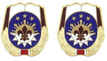 Army Crest: MEDDAC Fort Irwin - Weed Army Hospital- pair