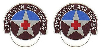 Army Crest: MEDDAC Fort Leonardwood - Compassion and Courage- pair