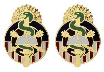 Army Crest: MEDDAC Fort Riley- pair