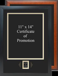 "14"" x 20"" Promotion Certificate Frame w/ Rank Window"