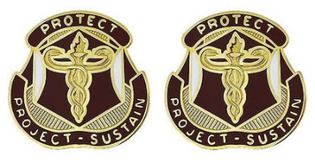 Army Crest: Medical Research and Materiel Command- pair