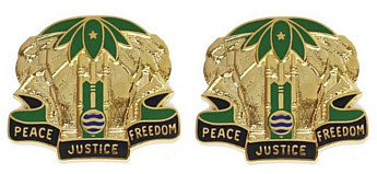 Army Crest: Military Police Battalion - Peace Justice Freedom- pair
