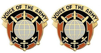 Army Crest: Network Enterprise Technology Command - Voice of the Army- pair