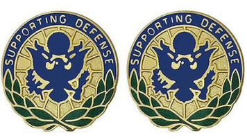 Army Crest: Personnel In DOD and Joint Activities - Supporting Defense- pair