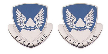 Army Crest: Second Aviation Battalion – Excelsus- pair