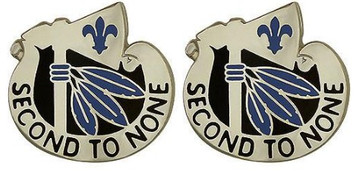 Army Crest: Second Infantry Division - Second to None- pair