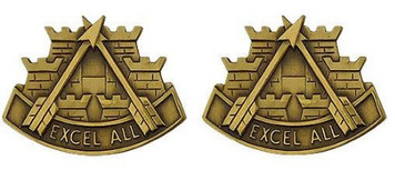 Army Crest: Second Support Command - Excell All- pair