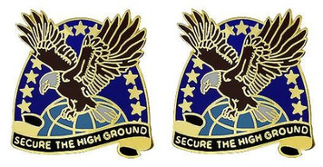 Army Crest: Space and Missile Defense Command - Secure the High Green- pair
