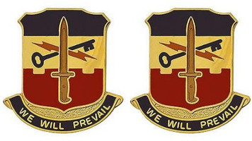 Army Crest: Special Troops Battalion 41st Infantry Brigade - We Will Prevail- pair