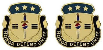 Army Crest: Special Troops Battalion Eighth Army - Honor Defend Unite- pair