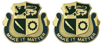 Army Crest: Special Troops Battalion First Armored Division - Make it Matter- pair