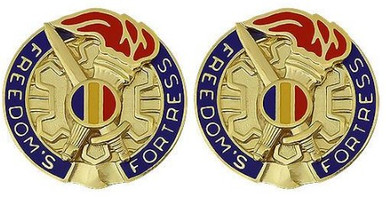 Army Crest: Training and Doctrine Command: TRADOC - Freedoms Fortress- pair