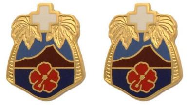 Army Crest: Tripler General Hospital- pair