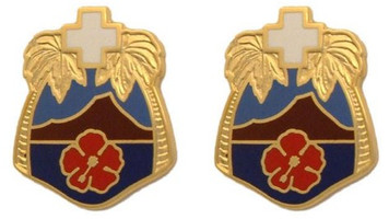 Army Crest: Tripler General Hospital- pair