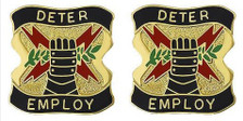 Army Crest: US Army Element US Strategic Command - Deter Employ- pair