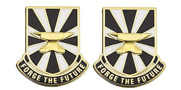 Army Crest: US Army Futures Command - Motto: Forge The Future – pair