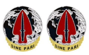 Army Crest: US Army Special Operations Command - Sine Par- pair