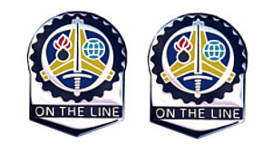 Army Crest: Us Army Sustainment Command - On the Line- pair