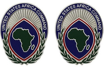 Army Crest: USA Element - United States Africa Command- pair
