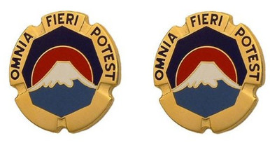 Army Crest: USA Japan Command - Omnia Fieri Potest- pair
