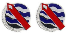 Army Crest: USA Pacific - Western Command- pair