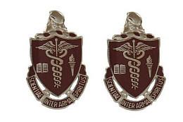 Army Crest: Walter Reed Medical Center - Scientia Inter Arma Spiritus- pair