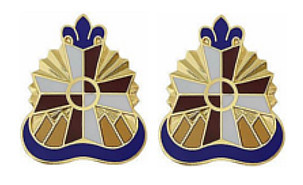 Army Crest: William Beaumont Army Medical Center- pair