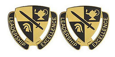 Army ROTC Cadet Command Crest- pair