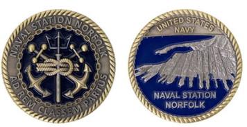 Coin: Norfolk Naval Station Port