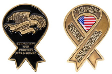Coin: Yellow Ribbon Support Our Troops