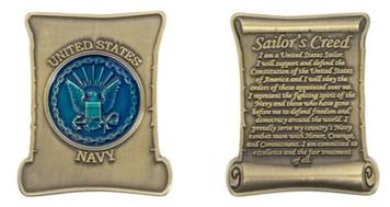 Coin: Navy Sailor's Creed