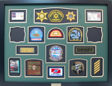Madera County, CA Sheriff Shadow Box Display